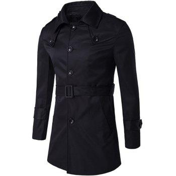 Epaulet Design Single Breasted Trench Coat