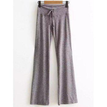 Active High Waisted Drawstring Heather Pants