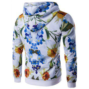 All-Over imprimé floral Zip-Up Hoodie - Floral 2XL
