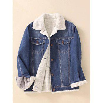 Thick Sherpa Fleece Denim Jacket