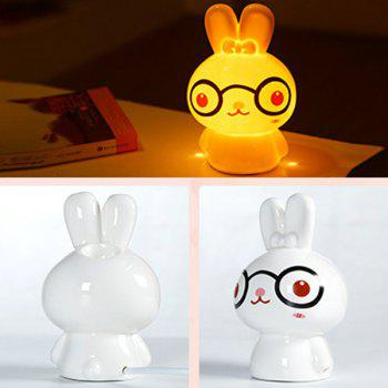 Drive Midge Essential Oil Purify Air Cartoon Ceramic BeiBei Rabbit Night Light - WHITE
