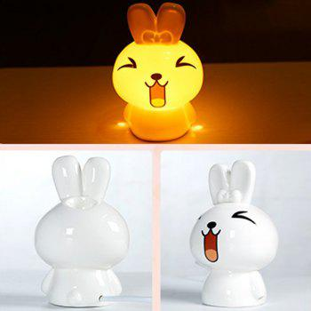 Conduisez Midge Essential Oil Purifier Air Cartoon Céramique NiNi Lapin Night Light - Blanc