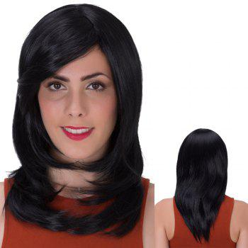 Gorgeous Long Layered Tail Adduction Side Bang Synthetic Wig