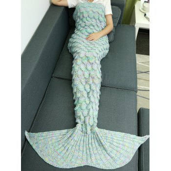 Comfortable Hollow Out Design Knitted Mermaid Tail Blanket