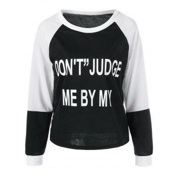 Raglan Sleeve Graphic Pullover Sweatshirt