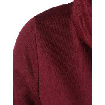 Cowl Collar Pullover Sweatshirt - WINE RED WINE RED