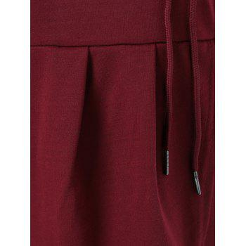 Collier Cowl Sweat-shirt - Rouge vineux M