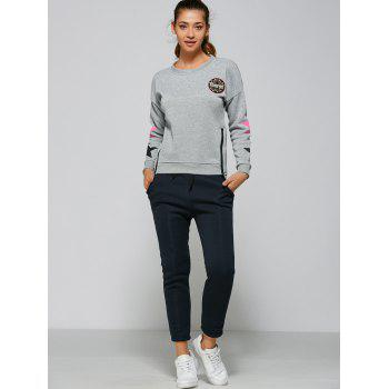 Active Stars Side Zipper Sweatshirt+Pants