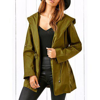 Drawstring Hooded Field Jacket