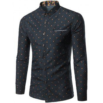 Small Polka Dot Printed Long Sleeve Shirt