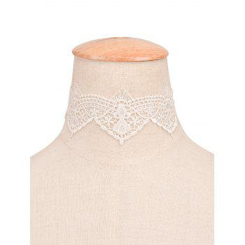 Faux Lace Flower Choker