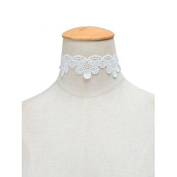 Knitted Floral Choker Necklace