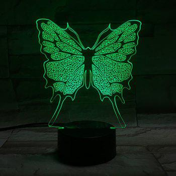 Color Changing 3D Stereo Visual Butterfly LED Room Night Light