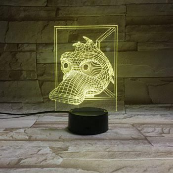 Colorful 3D Visual Animal LED Children Gift Table Night Light - COLORFUL