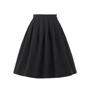 High Waisted Ruched Full Skirt