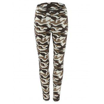 Camo Print Bdu Running Leggings
