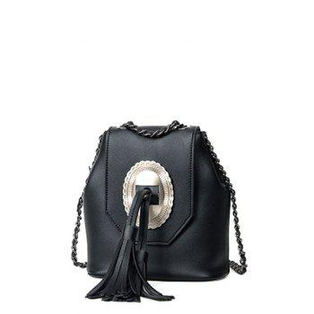 Chain Snap Closure Tassels Crossbody Bag