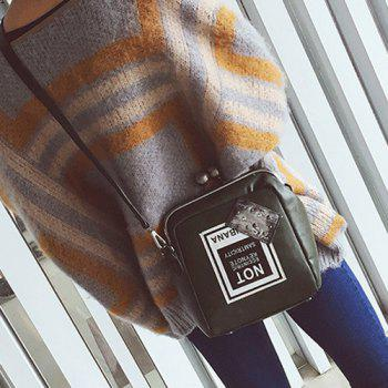 Kiss Lock Closure Colour Splicing Crossbody Bag