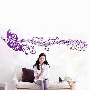 Artistic Butterfly Design Mouldproof Living Room Wall Stickers