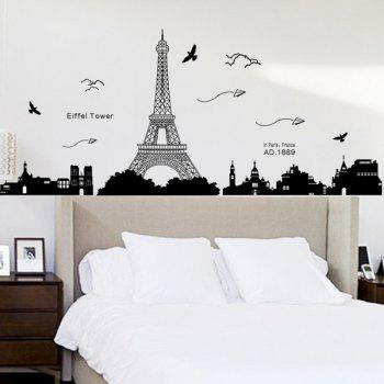 Mouldproof Removable Eiffel Tower Room Decor Wall Stickers, BLACK ...