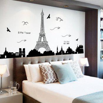 Mouldproof Removable Eiffel Tower Room Decor Wall Stickers