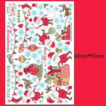 Merry Christmas Removable Waterproof Room Decor Wall Stickers - COLORFUL