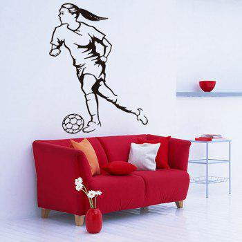 Female Football Player Removable Room Decor Wall Stickers