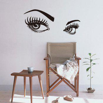 75*33CMCharming Eyes Pattern Removable Room Decor Wall Stickers