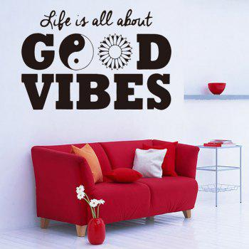 Life Quote Removable Waterproof Room Decor Wall Stickers