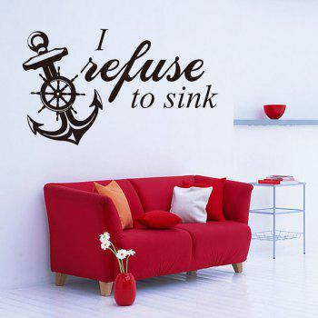 Anchor Quote Removable Living Room Decor Wall Stickers