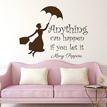 Anything Can Happen Quote Removable Room Decor Wall Stickers