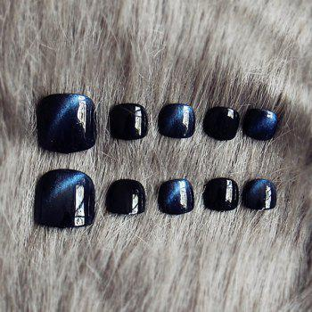 24 PCS Cat Eye Fake Toenails