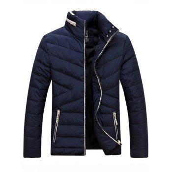 Stands Collar Zip-Up Épaississez Down Jacket