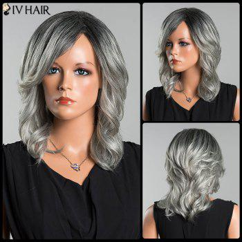 Siv Long Colormix Side Parting Wavy Human Hair Wig - COLORMIX COLORMIX