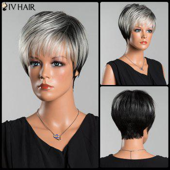 Siv Short Pixie Straight Side Bang Human Hair Wig - COLORMIX COLORMIX