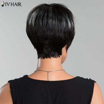 Siv Short Pixie Straight Side Bang Human Hair Wig -  COLORMIX