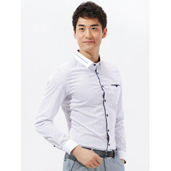 Argyle Print Pocket Long Sleeve Shirt