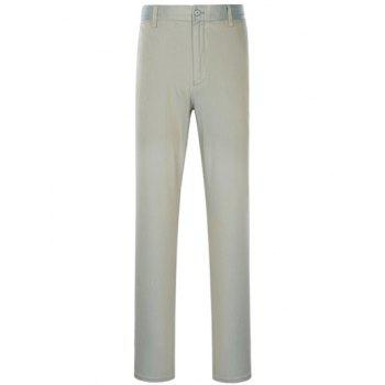 Slimming Simple Zipper Fly Straight Leg Pants