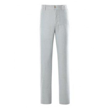 Simple Zipper Fly Straight Leg Pants
