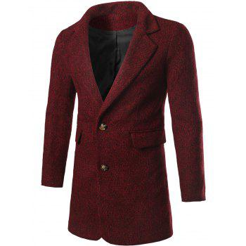 Single Breasted Lapel Collar Tweed Coat