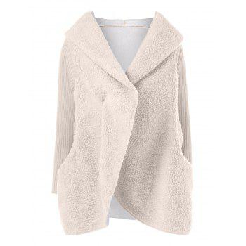 Fuzzy Loose Hooded Coat