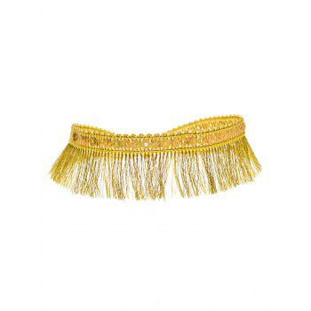 Sequins Tassel Choker Necklace