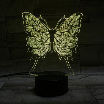 Color Changing 3D Stereo Visual Butterfly LED Room Night Light - COLORFUL