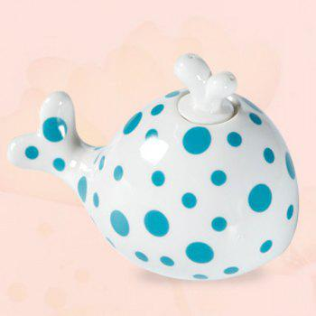Drive Midge Essential Oil Purify Air Cartoon Ceramic Dolphin Night Light - BLUE