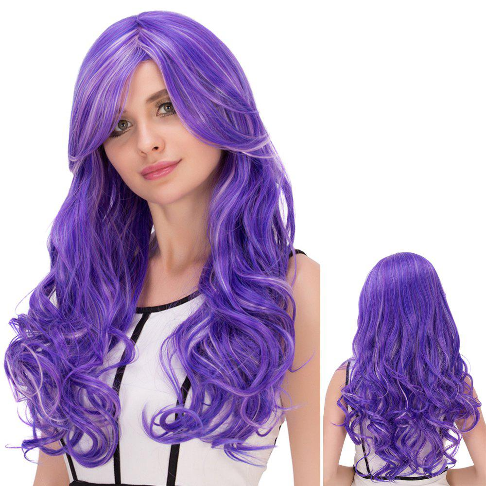 Highlight Ombre Oblique Bang Long Fluffy Wavy Lolita WigHair<br><br><br>Color: COLORMIX