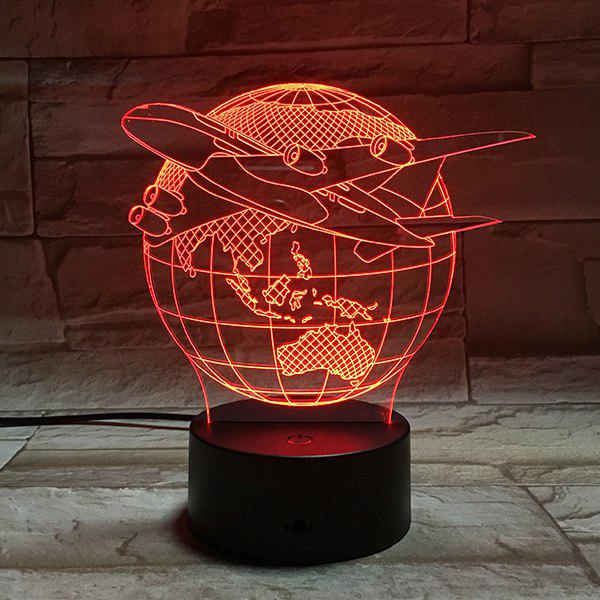 Colorful Tellurion Shape 3D Visual LED Table Night Light colorful three football shape 3d visual led table night light