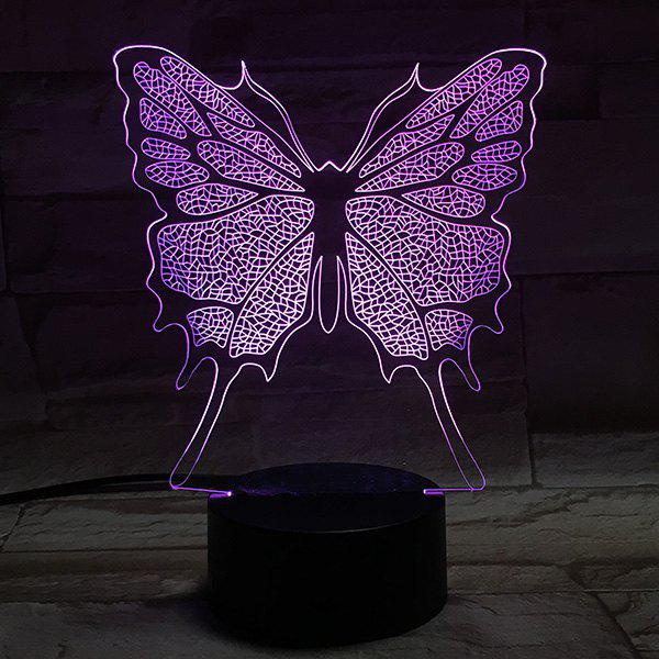Color Changing 3D Stereo Visual Butterfly LED Room Night Light топор fiskars x7 xs 121423