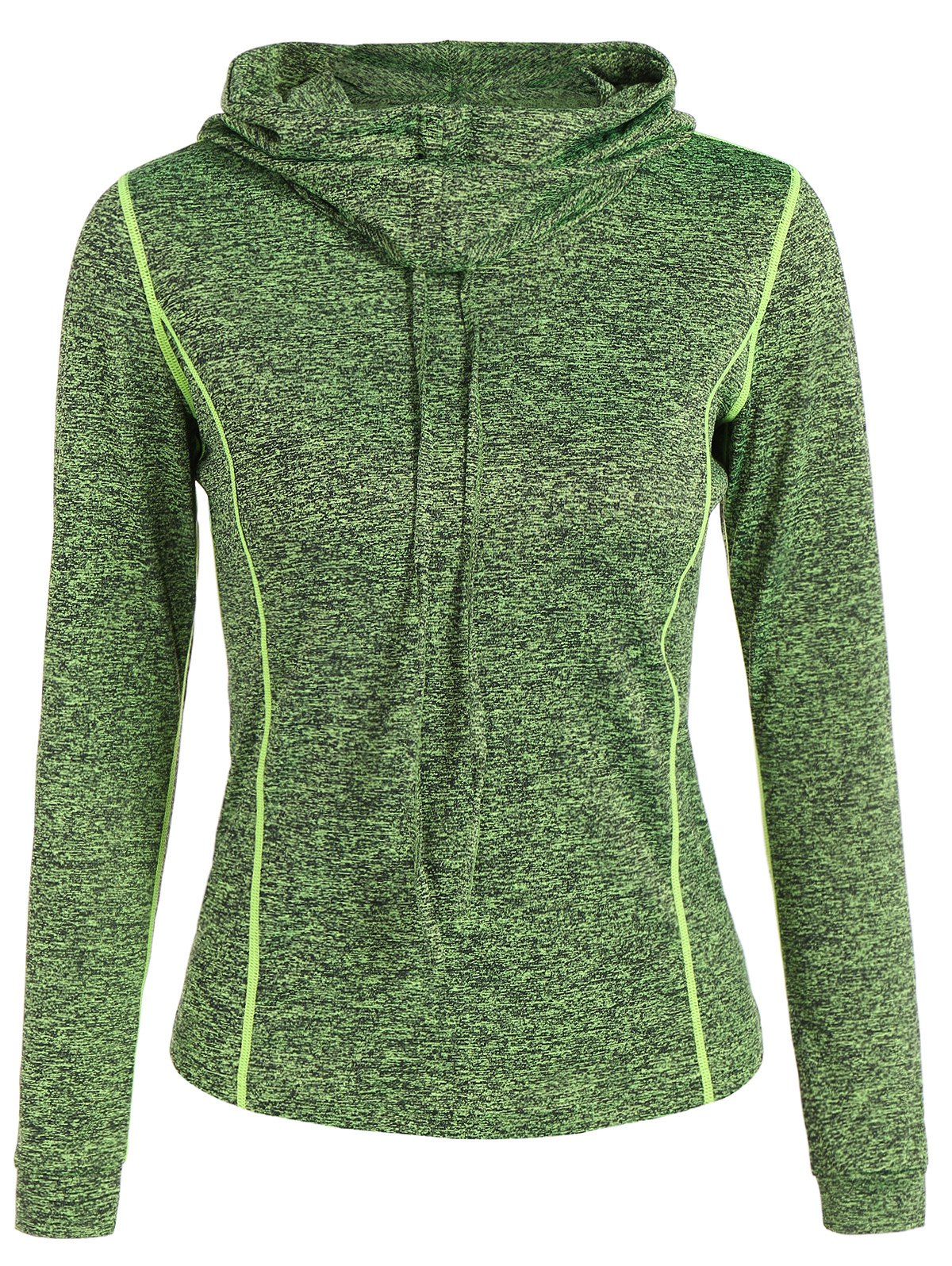 Sports Wear Drawstring Hoodie - GREEN M