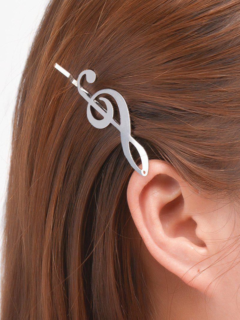 Alloy Music Note Hair Accessory