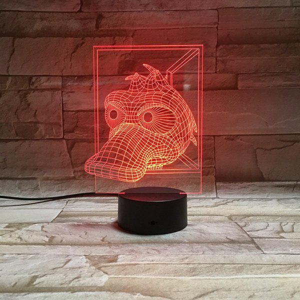 Colorful 3D Visual Animal LED Children Gift Table Night Light colorful three football shape 3d visual led table night light